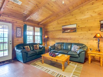 Photo for Charming, dog-friendly cabin with private hot tub & lovely mountain views!