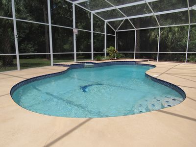 Photo for Villa with own large South facing pool. Close to Disney. Conservation view.