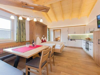 Photo for Panoramic view, shower, toilet, 2 bedrooms - Schönberghof