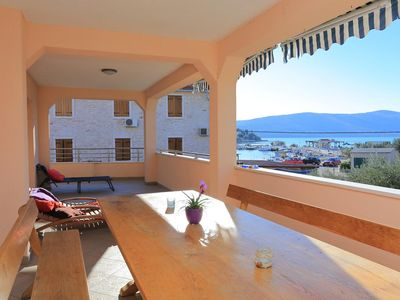 Photo for Three bedroom apartment with terrace and sea view Seget Vranjica, Trogir (A-17989-a)