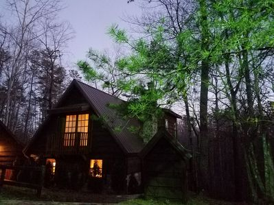 Cabin in the mountains- very private setting. Plenty of room for the kids/dogs!