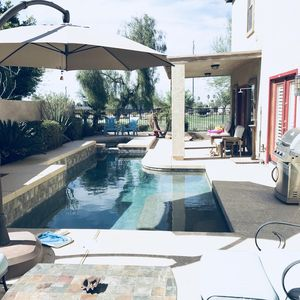 Photo for Backyard Oasis. Saltwater Pool w Heated Spa. Private Gated Park right next door!