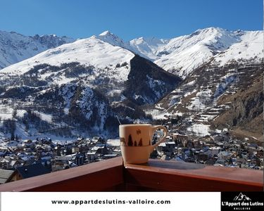 Photo for Appart 4 pers equipped south facing with views and pool at the foot of a ski slope