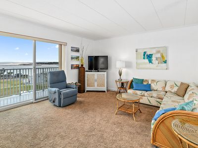 Photo for Cozy 2 Bedroom Condo with a Breathtaking View of the Bay and an Outdoor Pool Only Two Blocks to the Beach and Boardwalk!