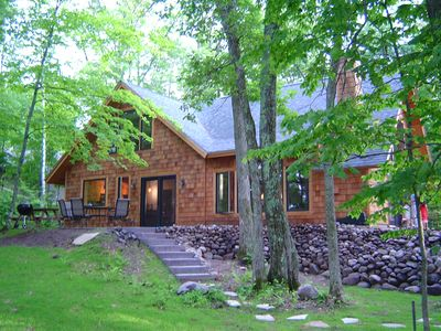 Photo for Secluded lakehm two hrs from Twin Cities on crystal clear Silver Lake- sleeps 10