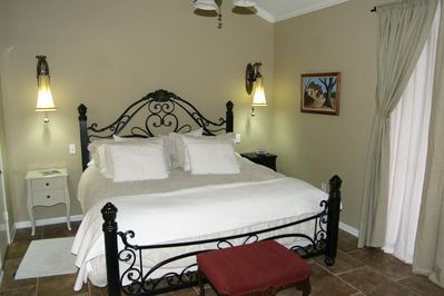 Downstairs master suite with king bed