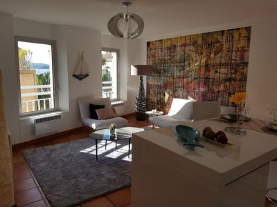 Photo for Contemporary apartment renovated, sea view and port.