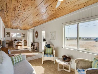 Photo for Beautifully Updated Cottage with Incredible Marsh and Ocean Views from the Rooftop Deck.
