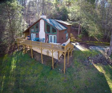 Photo for Secluded  Cabin -2 Bdrm/2 bath with Hot Tub, Wood Fireplace & More