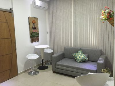 Photo for Beautiful apt room / living room in Copa 2 blocks from the beach!