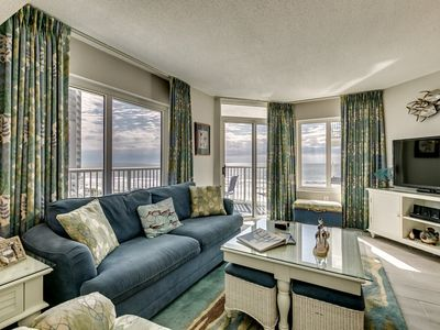 Photo for Beautiful Upscale Oceanfront Condo, Outdoor Hot Tubs | Sea Watch S - 516