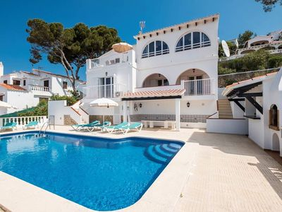 Photo for This Mediterranean style villa is located close to the commercial centre and the beach of Son Bou, s