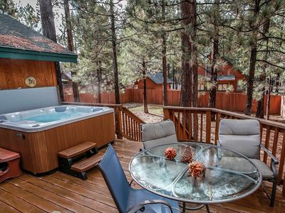 Photo for *TIMBER WOLF DEN~CENTRAL LOG CABIN CHALET~Hot Tub~Fenced~