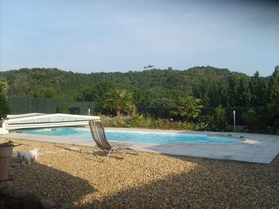 Photo for TOP COMFORT Mobilhome 35m² on private land with trees of 800 M². private pool