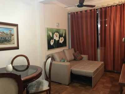 Photo for One bedroom apartment in Copacabana, 100 METRES FROM THE BEACH with Wifi
