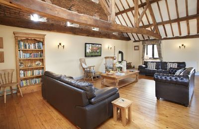 First floor:  Relax on the sofas with a book or watch TV