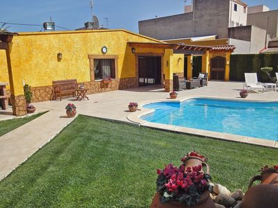 Photo for Beautiful apartment for 6 people with hot tub, private pool, WIFI, A/C, TV, balcony and pets all...