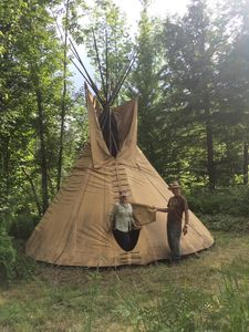 Photo for Traditional tipi surrounded by forest