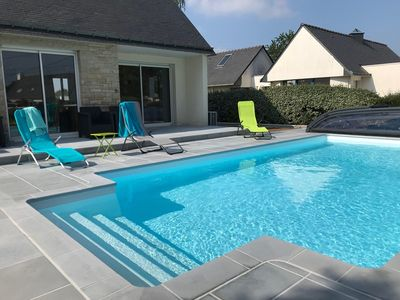 Photo for 5-room house 10/12 people with heated pool.