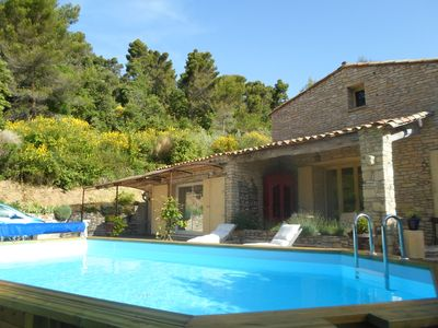 Photo for Superb stone house in the Luberon, pool and spa, 5 bedrooms