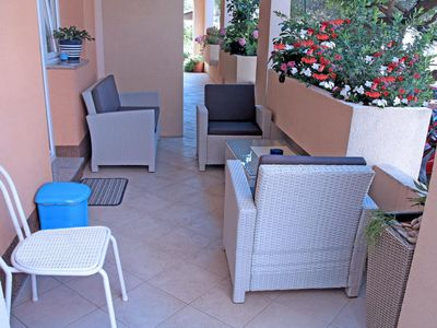 Photo for One bedroom apartment with terrace Tučepi (Makarska)