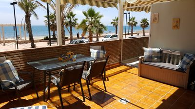 Photo for Beachfront Apartment with Pool, Garden, Stunning Oceanfront Beachfront View + City