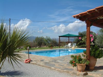 Photo for Spacious detached villa with private pool & panoramic views to sea and mountains