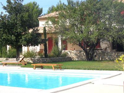 Photo for Provencal house near Aix en Provence with bowling alley and swimming pool.