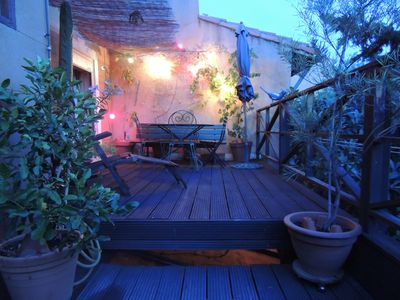 Photo for 2pièces charming, large terrace, quiet and sunny, central Marseille