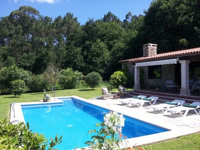 Photo for Lovely Rustic Bungalow in Secure Garden with Private Pool