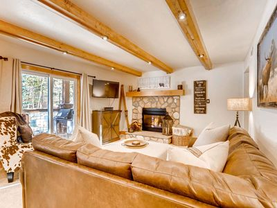 Photo for 7th Night Free! New Listing, Location & Mountain Elegance, Wi-Fi, Gas Fireplace