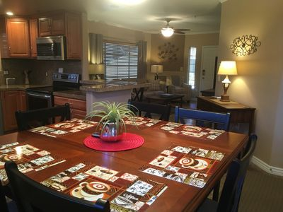 Dinning room to main living room with seating for 6 to 8 people.
