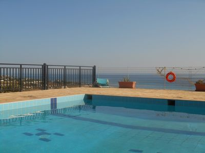 Photo for Dreams Days Holiday House with a panoramic view next to the sea, pool & gardens