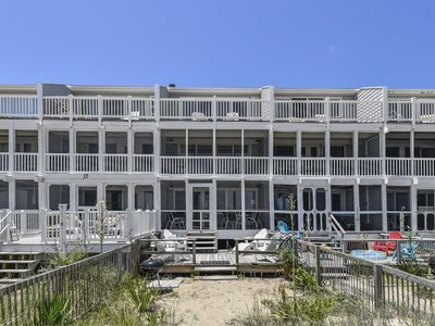 Photo for FREE ACTIVITIES!! Charming DIRECT BEACH FRONT multi-level townhome  with endless ocean and beach views includes 3 bedrooms, 2.5 baths.