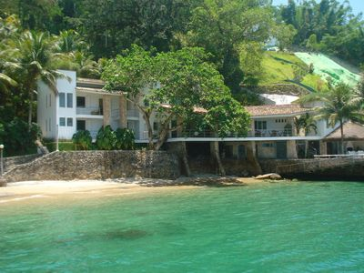 Photo for Luxurious home with private beach, pool, full view of Angra Bay