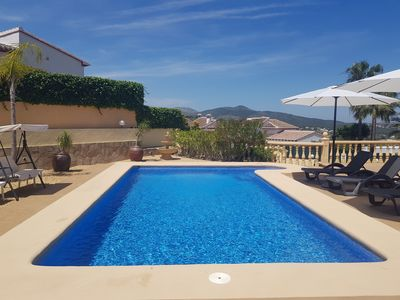 Photo for Stunning Modern Villa, Private pool,Secure Off Road Parking, Air-con,WIFI,UKTV