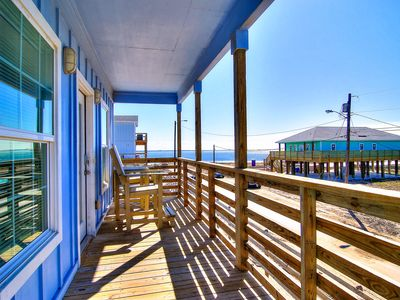 Photo for Enjoy breathtaking bay views from the comfort of a large front deck.