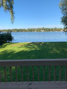 Photo for Peaceful Lakefront Lakehouse. Pontoon, fish, sunbathe or swim in your backyard!