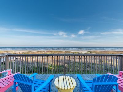 Photo for Barefoot Pelican - A beachfront home 3/2 Sleeps 10 with multiple decks.