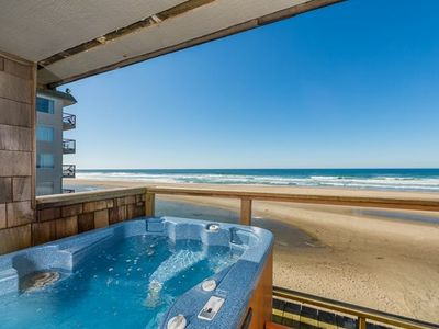 Photo for Onsite Beach Access, Private Hot Tub, Amazing  Ocean Views