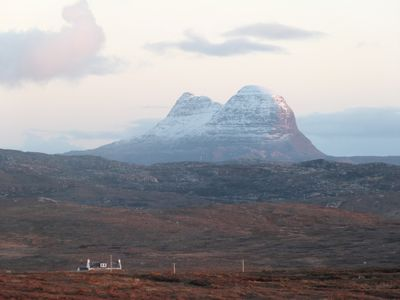 Suilven - Meall Dubh is the cottage in the foreground