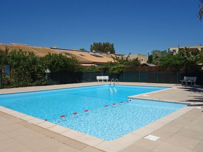 Photo for Cosy apartment for 6 guests with pool, WIFI, TV, balcony, pets allowed and parking