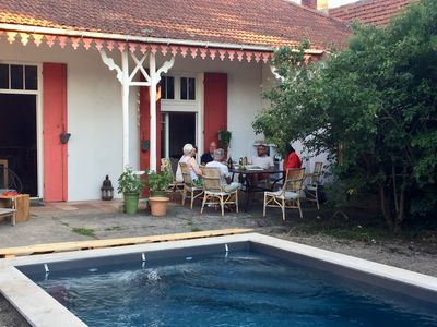 Photo for Belle Arcachonnaise with pool - 8 people