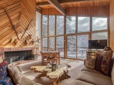 Photo for Spacious yet cozy mountain lodge-style home w/ nearby ski access
