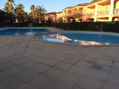 Photo for 2-ROOM APARTMENT 5 pers. GRIMAUD (VAR) IN A SECURE RESIDENCE WITH POOL