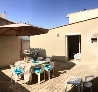 Photo for APARTMENT 5 PERS, 20 M FROM THE SEA, PRIVATE COURTYARD, BARBECUE, 2 BEDROOMS