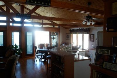 Kitchen and partial view of dining