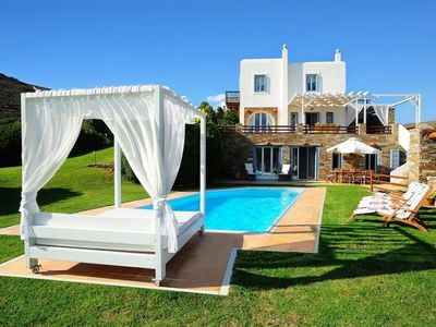 Photo for 4 bedroom Villa, sleeps 8 in Kato Fellos with Pool, Air Con and WiFi