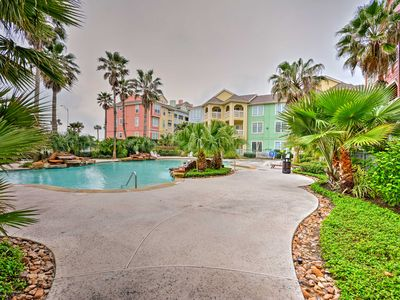 Photo for Oceanfront Galveston Condo w/Balcony & Pool Access