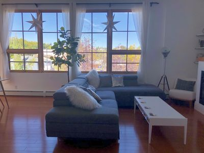 BRIGHT & SPACIOUS Condo with Private Rooftop Patio (1350total SQft), 2Bd, 2Bth